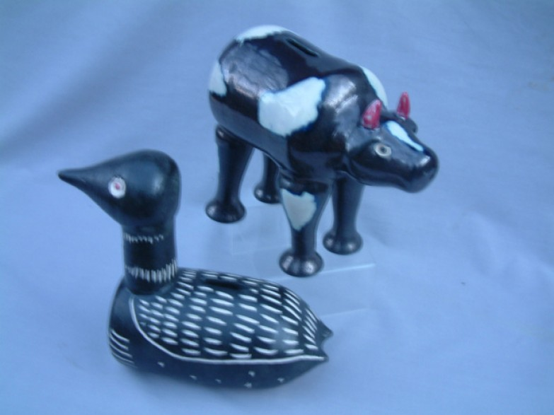 Cow & loon banks