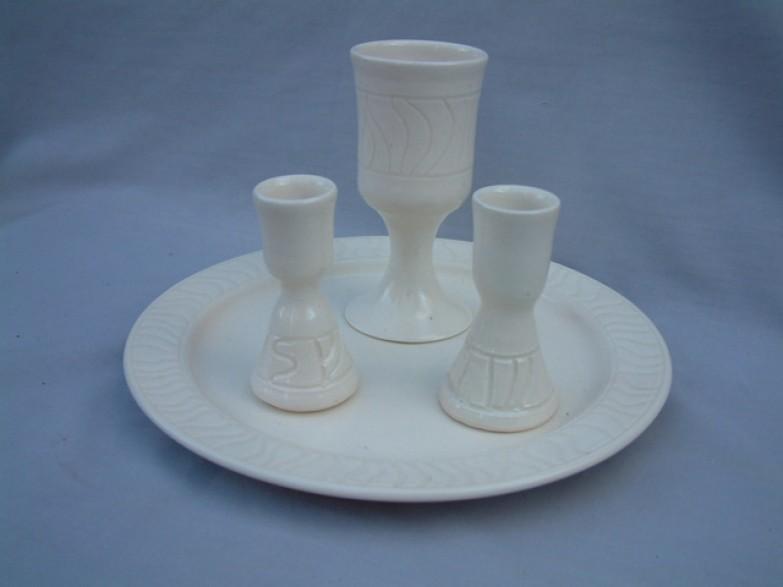 White shabbat set