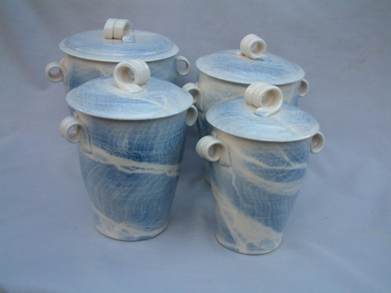 Set of four canisters